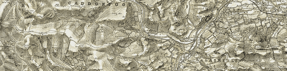 Old map of Yair Hill Forest in 1904