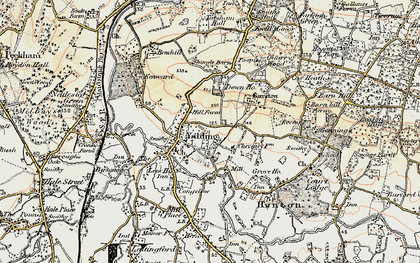 Old map of Yalding in 1897-1898