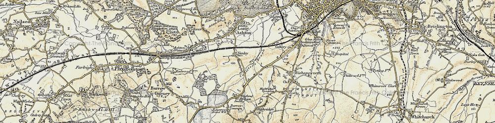 Old map of Yanley in 1899