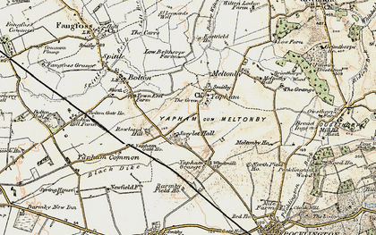 Old map of Yapham Common in 1903