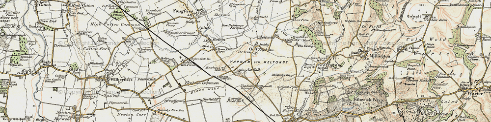 Old map of Yapham in 1903