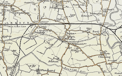 Old map of Yapton in 1897-1899