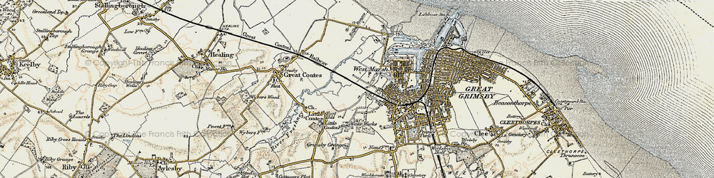 Old map of Yarborough in 1903-1908
