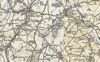 Old map of Yarde in 1898-1900
