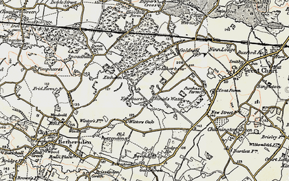 Old map of Yardhurst in 1897-1898