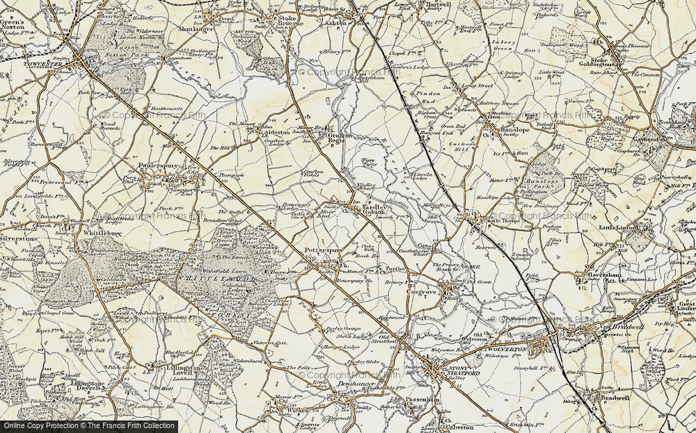 Old Map of Yardley Gobion, 1898-1901 in 1898-1901