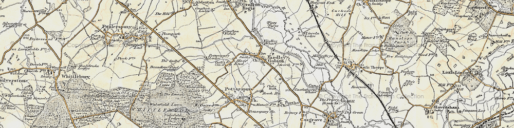 Old map of Yardley Gobion in 1898-1901