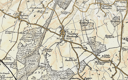 Old map of Yardley Chase in 1898-1901