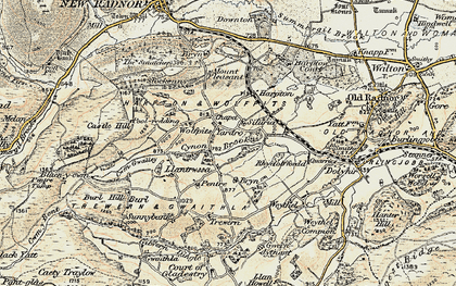 Old map of Wolfpits in 1900-1903