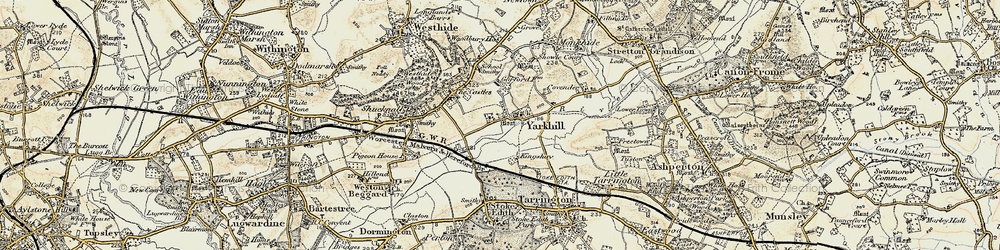 Old map of Yarkhill in 1899-1901