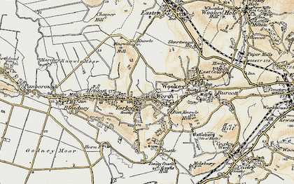 Old map of Yarley in 1899