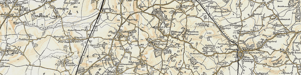 Old map of Yarlington in 1899