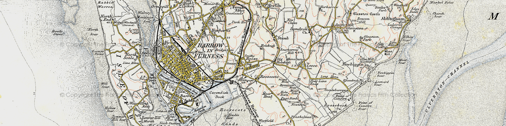 Old map of Yarlside in 1903-1904
