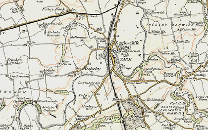 Old map of Yarm in 1903-1904