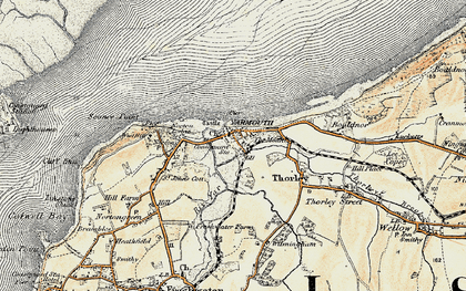 Old map of Yarmouth in 1899-1909