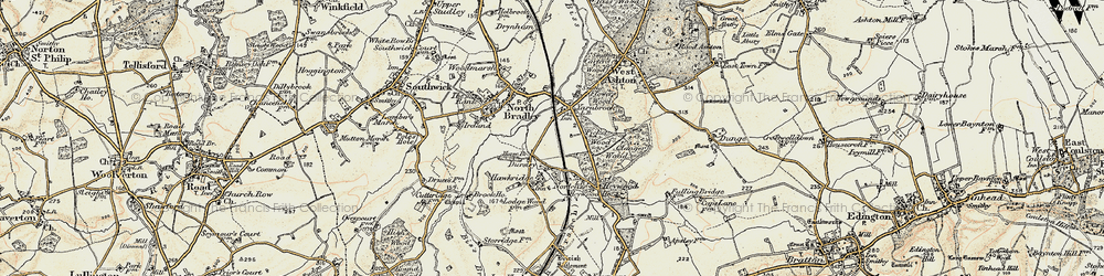 Old map of Yarnbrook in 1898-1899
