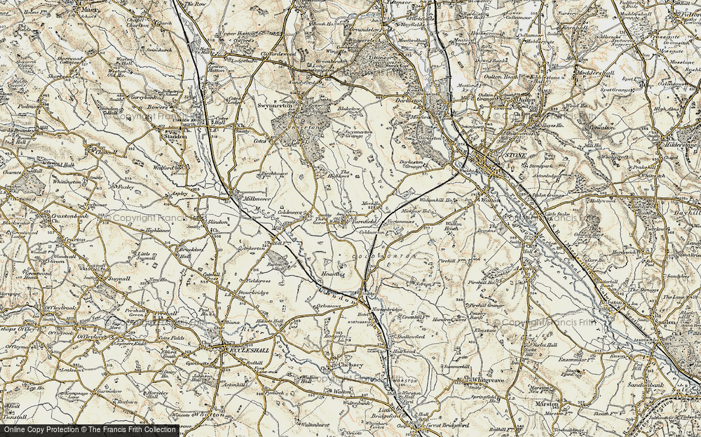 Old Map of Yarnfield, 1902 in 1902