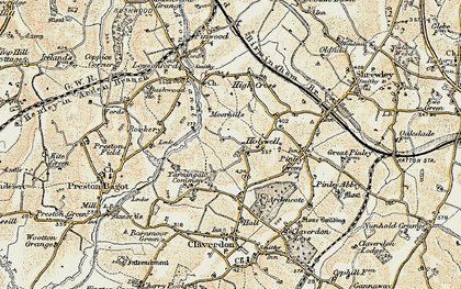 Old map of Yarningale Common in 1901-1902