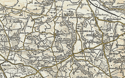 Old map of Yarnscombe in 1899-1900