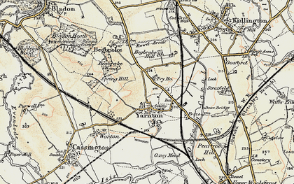 Old map of Yarnton Ho in 1898-1899