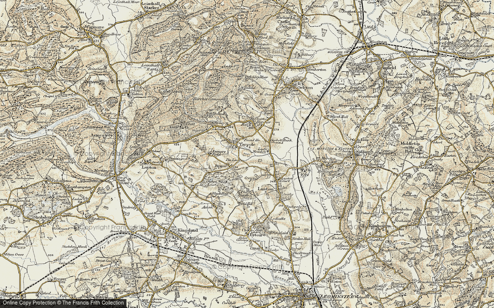 Old Map of Yarpole, 1900-1903 in 1900-1903