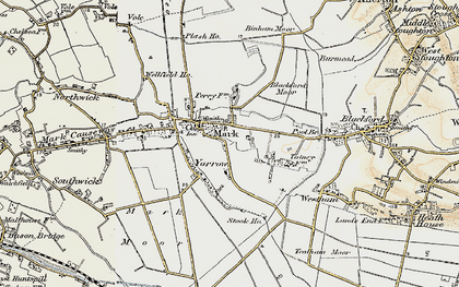 Old map of Yarrow in 1899-1900