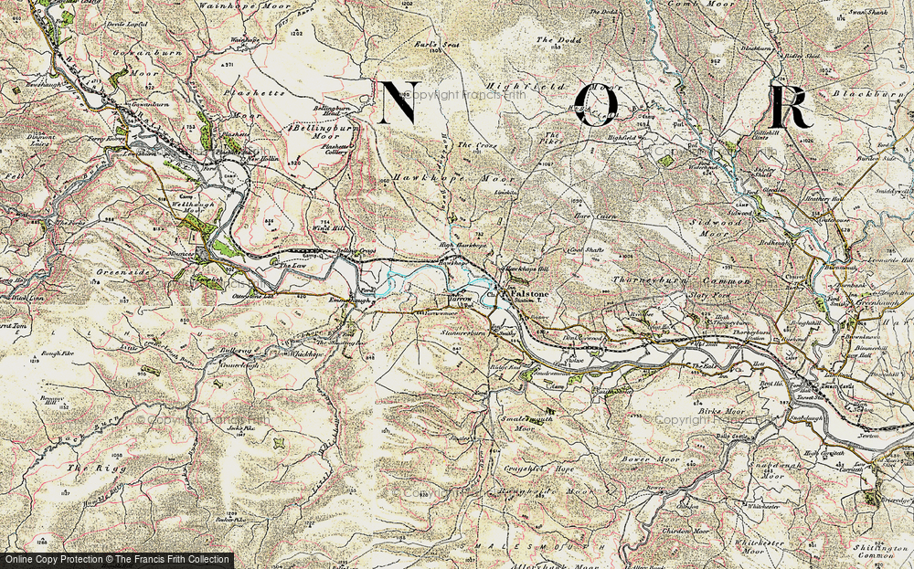Old Map of Yarrow, 1901-1904 in 1901-1904