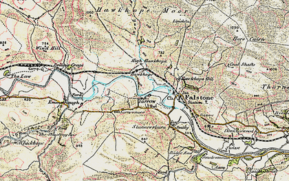 Old map of Yarrow in 1901-1904
