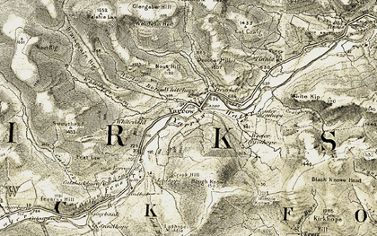 Old map of Yarrow Water in 1904
