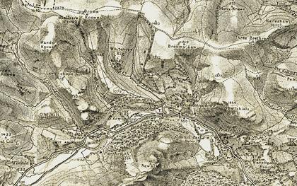 Old map of Yarrowford in 1904