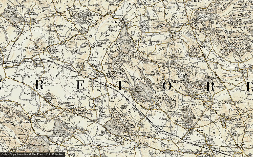 Old Map of Yarsop, 1900-1901 in 1900-1901