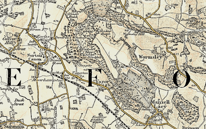 Old map of Yarsop in 1900-1901