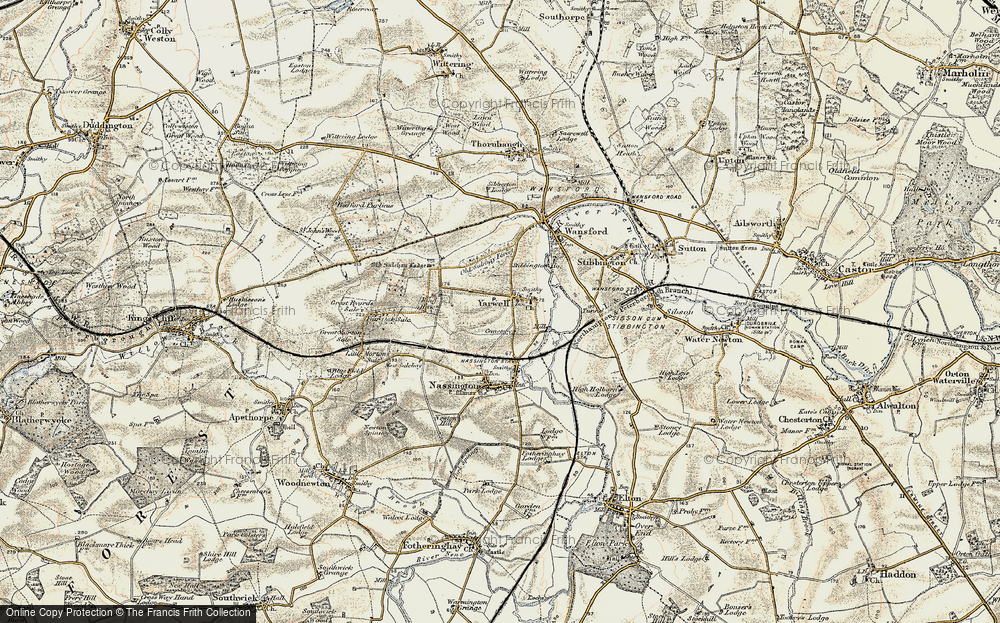 Old Map of Yarwell, 1901-1903 in 1901-1903