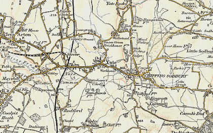 Old map of Yate in 1898-1899