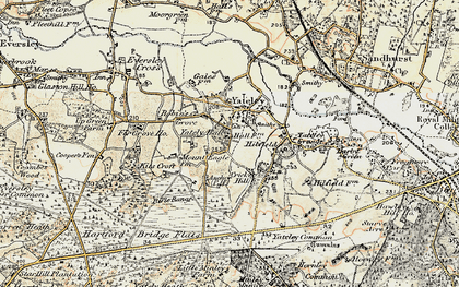 Old map of Yateley Green in 1897-1909