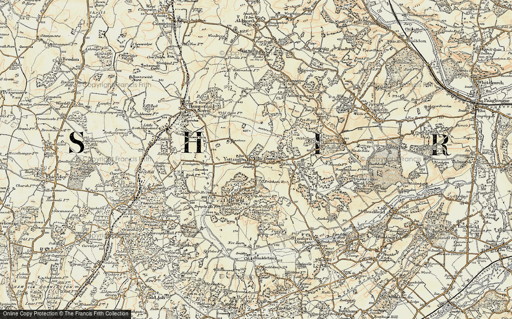 Old Map of Yattendon, 1897-1900 in 1897-1900