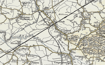 Old map of Yatton in 1899-1900
