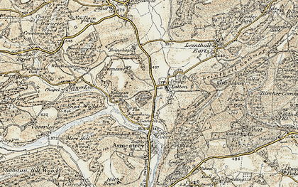 Old map of Yatton Hill in 1901-1903