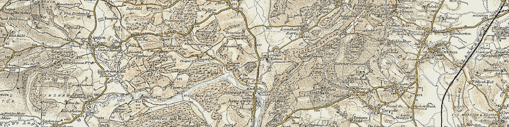 Old map of Leathers, The in 1901-1903