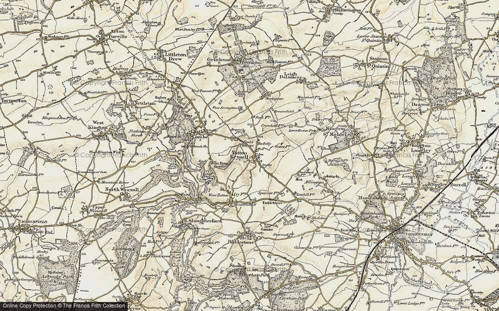 Old Map of Yatton Keynell, 1898-1899 in 1898-1899