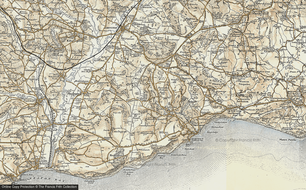 Old Map of Historic Map covering Woodhouse Hill in 1898-1899