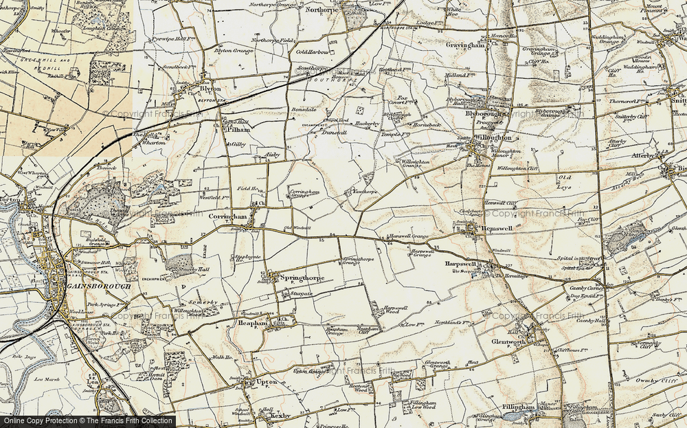 Old Map of Yawthorpe, 1903 in 1903