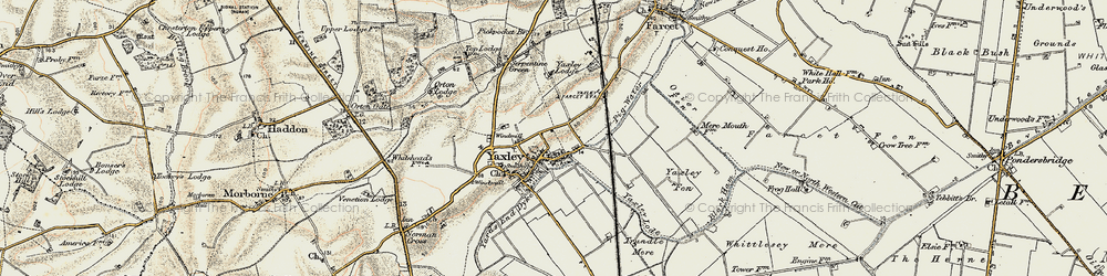 Old map of Yaxley Lode in 1901