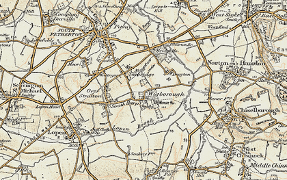 Old map of Yeabridge in 1898-1900