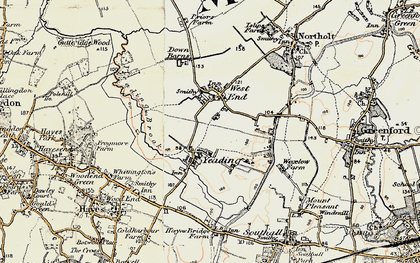Old map of Yeading in 1897-1909