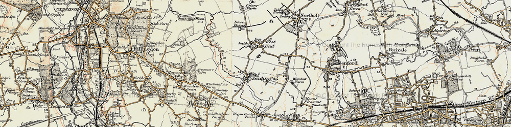 Old map of Yeading Brook in 1897-1909