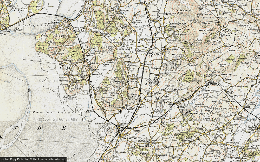 Old Map of Yealand Conyers, 1903-1904 in 1903-1904