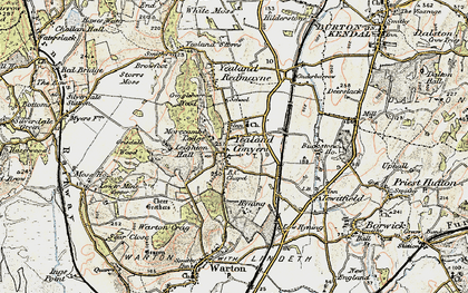 Old map of Yealand Conyers in 1903-1904