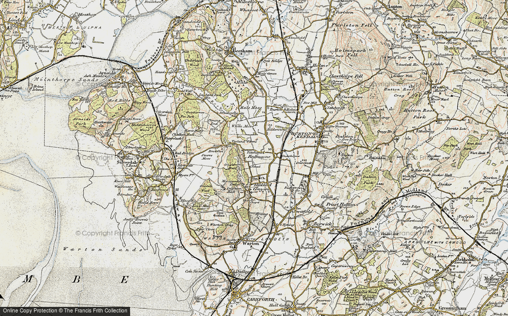 Old Map of Yealand Redmayne, 1903-1904 in 1903-1904