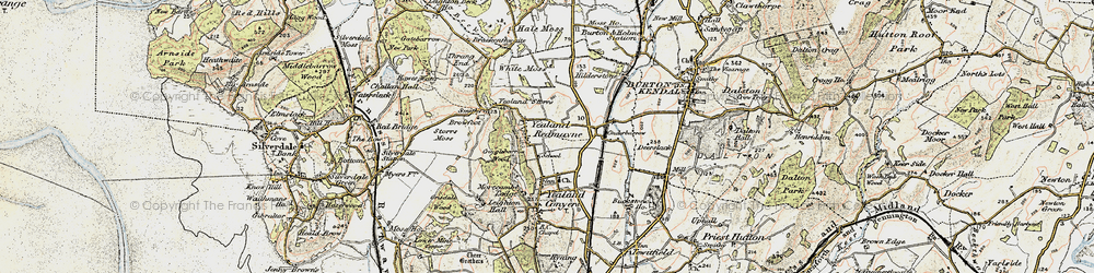 Old map of Yealand Redmayne in 1903-1904